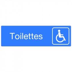 """Plaque """"Toilettes handicapés"""""""