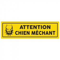 """Plaque """"Attention chien méchant"""""""