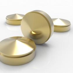 Lot de 4 cabochons dorés - 12mm