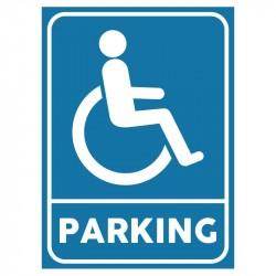 Plaque stationnement handicapés