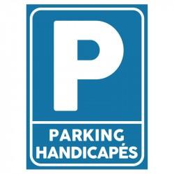 Plaque stationnement handicapés : Parking handicapés