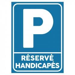Plaque parking handicapés : Réservé handicapés