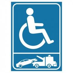 Plaque stationnement handicapés : logos fourrière