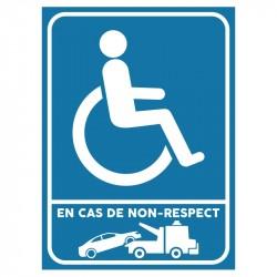 Plaque stationnement handicapés : En cas de non-respect...