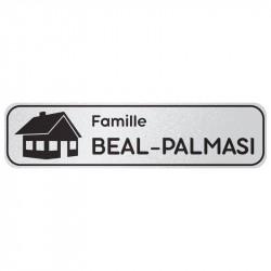 Plaque de porte : Famille avec logo 1