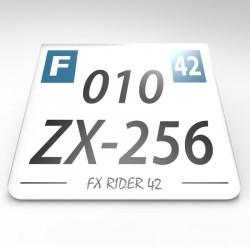 Plaque d'immatriculation pour moto de route