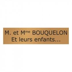 Plaque de boite aux lettres - Format standard (100x25mm)