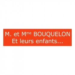 Plaque de boite aux lettres - Orange